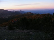 Dawn's multi-hued colors on the Summer solstice over the Tarryall Mountains
