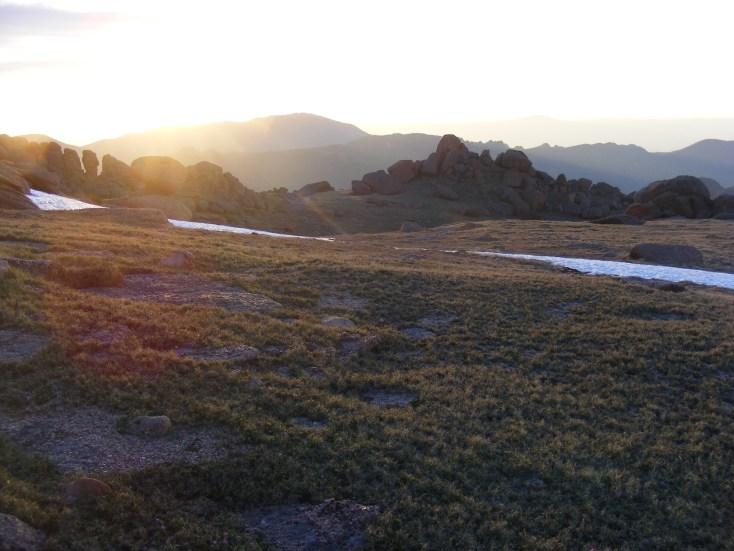 Sunrise on the flank of Bison Peak withing the Lost Creek Wilderness