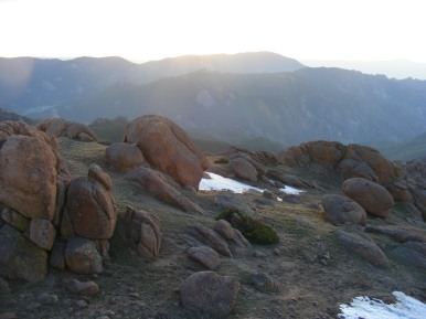 Sun rising over the Tarryall Mountains