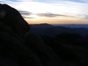 Sunrise over the plains as seen from the Tarryall Mountains