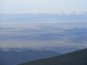 Looking out over the expanse of South Park at the Mosquito Range