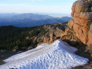 Snow drift on the Summer solstice in the Tarryall Mountains
