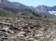 Cherry Lake basin, Sangre de Cristo Mountains, over the ridge to the left would lead to Cottonwood Creek, this is not the crest of the range