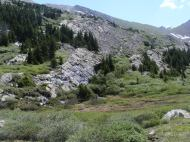 Springs abound in the mountains near Cherry Lake