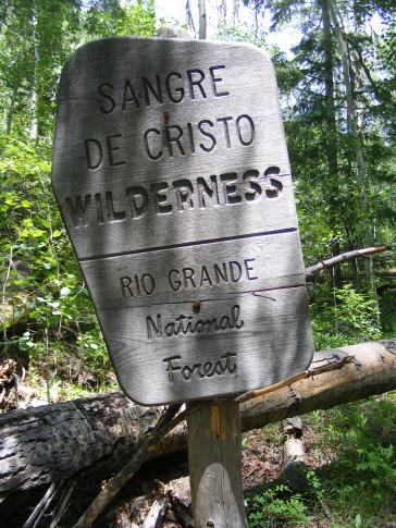 At the wilderness boundary on Wild Cherry Trail