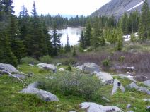 Lamphier Lake sitting just above the terminal moraine for this drainage