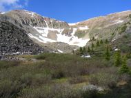 Above Lamphier Lake just below Fossil Mountain