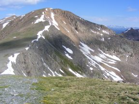 Mount Henry seen from the northern shoulder of Square Top Mountain