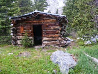 Old Forest Service cabin near Lamphier Lake, not maintained very well if at all