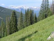 The West Elk Mountain seen as I climb Mount Axtell's southern flank