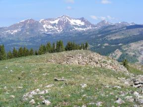 Rugged Ruby Range as seen from Mount Axtell