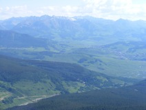 Looking over at the Elk Mountains from Mount Axtell