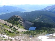 From Mount Axtell, the first drainage north of Green Lake. Crested Butte to the left