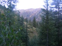 Looking north from Alpine Gulch in the morning light