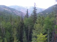 From the old mine, the view to the north over Alpine Gulch
