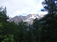 Plenty of snow in the high reaches of the San Juan Mountains above Alpine Gulch