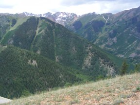 East Fork of Alpine Gulch in front, behind is the West Fork