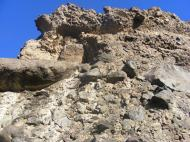 Crumbly breccia above the camp on Cache Creek