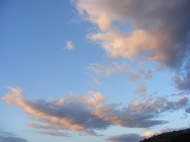 Morning clouds over my camp on Cache Creek