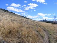A fine day for hiking on the Lamar River Trail in Yellowstone National Park
