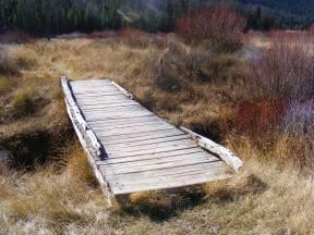 Small bridge crossing Mill Creek