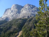 Squaretop Mountain seen from its base along the Green River in Wyoming's Wind River Range