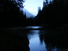 Looking upstream on the Green River towards its headwaters