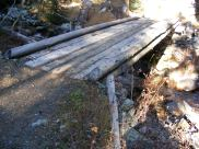 Small bridge on the Highline Trail, crossing Marten Creek