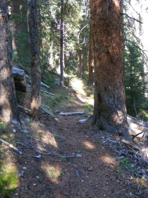 Climbing the switchbacks to Trail Creek Park