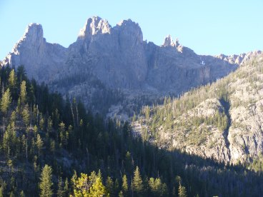 Narrow granitic ridge in the Wind River Range of Wyoming