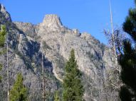 A turret of granite atop a ridge above my camp on the Green River in Wyoming's Wind River Range
