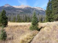 Scenery along the Highline Trail in the Wind River Range of Wyoming