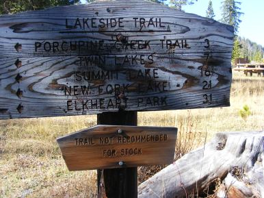 Signage for the Lakeside Trail
