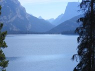 Lower Green River Lake, looking up at Squaretop Mountain