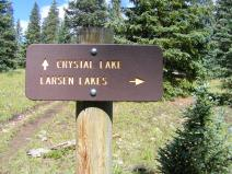 Signage on the Crystal Lake Trail
