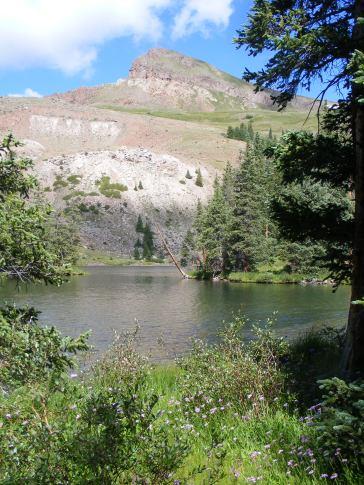 Crystal Lake below Crystal Peak