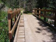 The middle bridge crossing Elk Creek