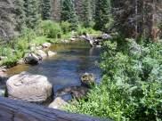 Elk Creek looking downstream from the middle bridge