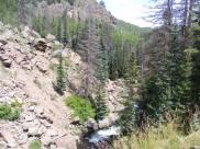 Elk Creek slicing through the rocky dam