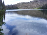 The effective headwaters of East Rio Chama is this, the largest of Dipping Lakes