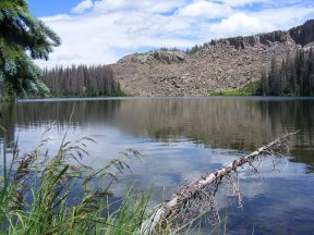Dipping Lakes, the headwaters of East Rio Chama, in South San Juan Wilderness