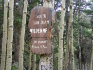 Sign at boundary of the South San Juan Wilderness