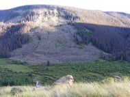 The mesa on the south side of Elk Creek