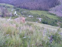 Elk Creek twisting through the inlet of Second Meadows