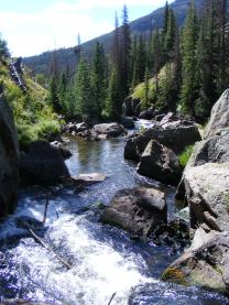 Elk Creek cascading down from the highlands of the southern San Juan Mountains