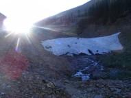 Silver Creek just below a snow plug