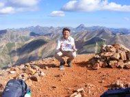 Me, on Redcloud Peak, look how red the soil is