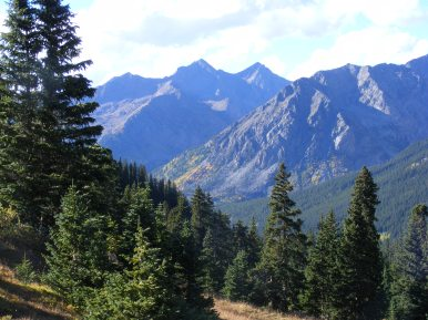 The Sawatch Range north of Texas Creek, The Three Apostles