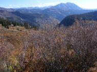 From Baxter Basin, looking over Anthracite Mesa at Gothic Mountain and the Elk Mountains
