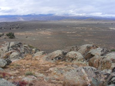 From Point 8497, looking north across Hartman Rocks to the West Elk Mountains in the distance